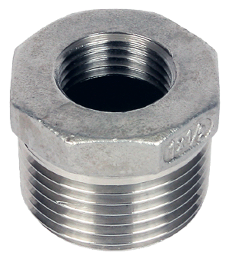 """Picture of 1 x 1/4"""" Stainless 316 Reducing Bush"""