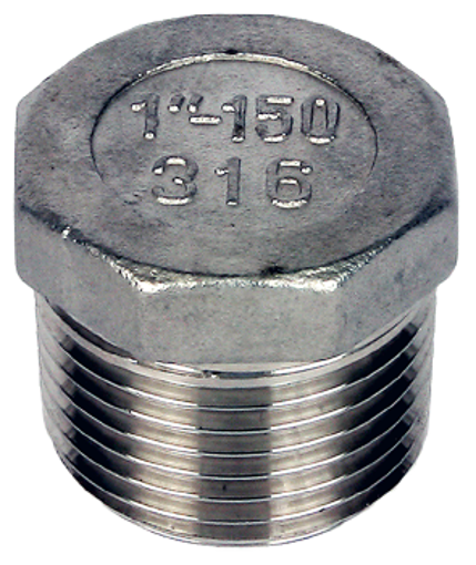 """Picture of 3"""" Stainless 316 Hexagon Head Plug"""