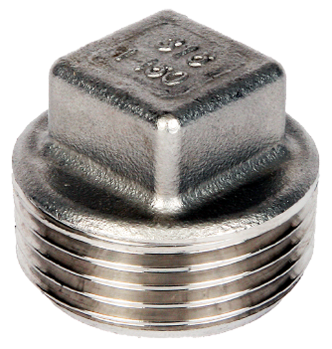 """Picture of 1 1/4"""" Stainless 316  Square Headed Plug"""