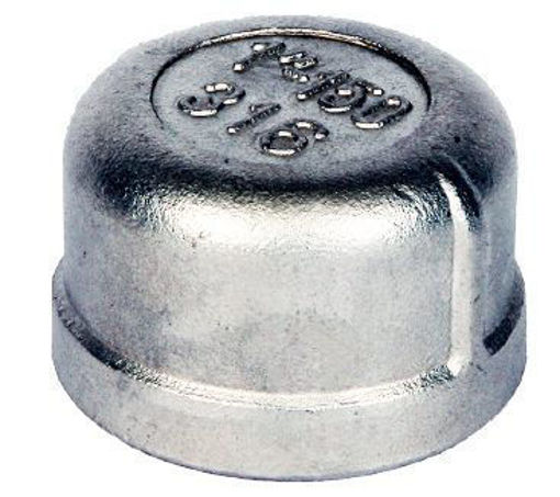 """Picture of 1/8""""BSP Stainless 316 Round Cap"""