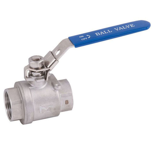 """Picture of 2 1/2"""" Stainless 2-Piece FB Ball Valve"""