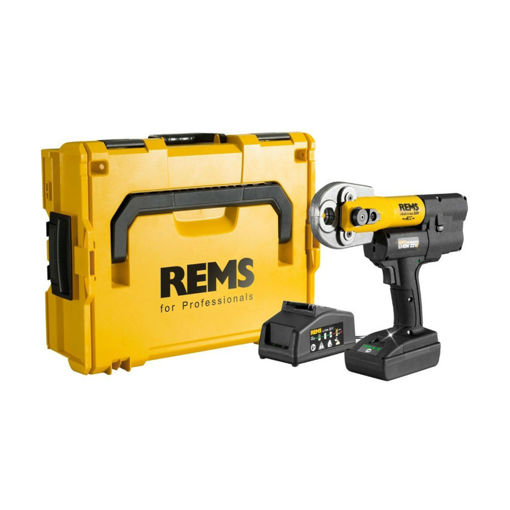 Picture of REMS Mini-Press 15-35mm +2 off 22v Batteries + Charger-In Plastic Case
